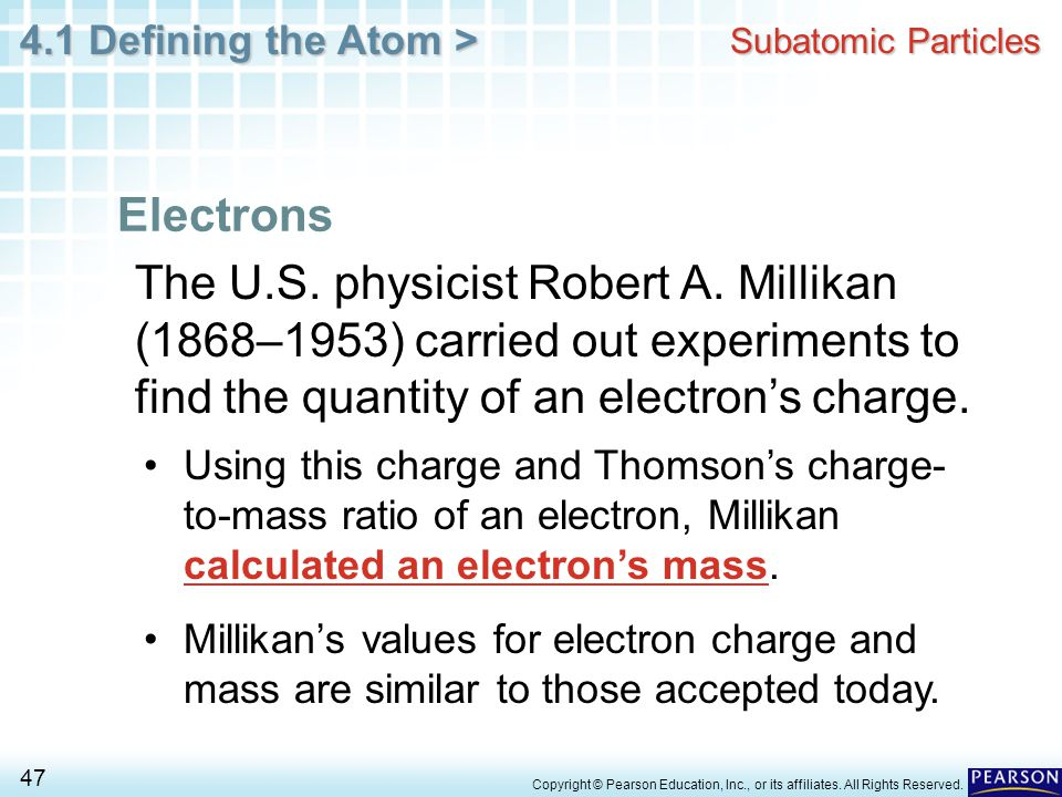 Subatomic Particles Electrons.