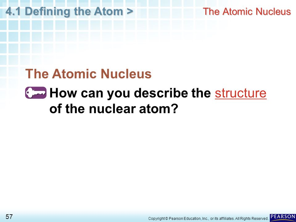 How can you describe the structure of the nuclear atom