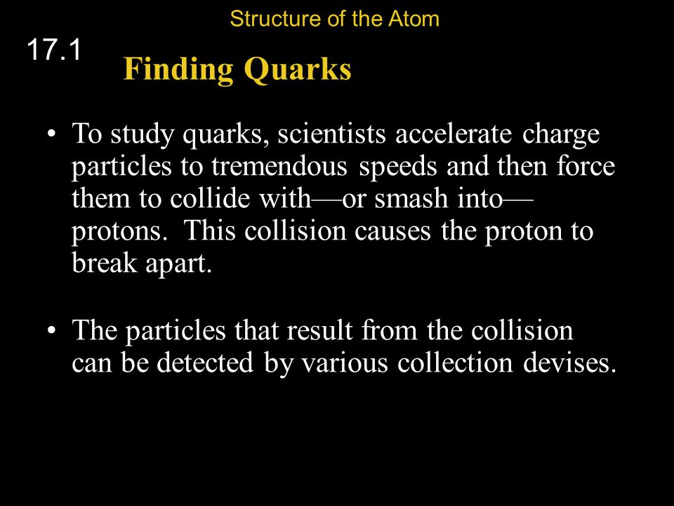 Structure of the Atom 17.1. Finding Quarks.