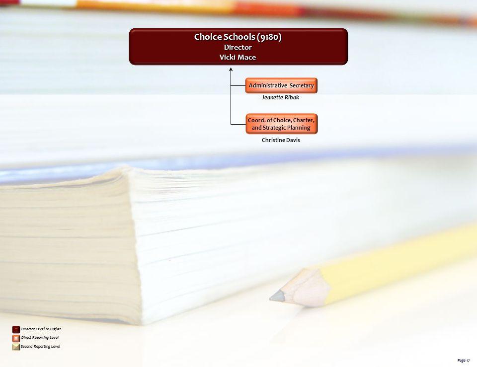 Choice Schools (9180) Director Vicki Mace Administrative Secretary