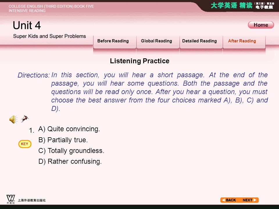 After Reading_2.1 Listening Practice Directions: