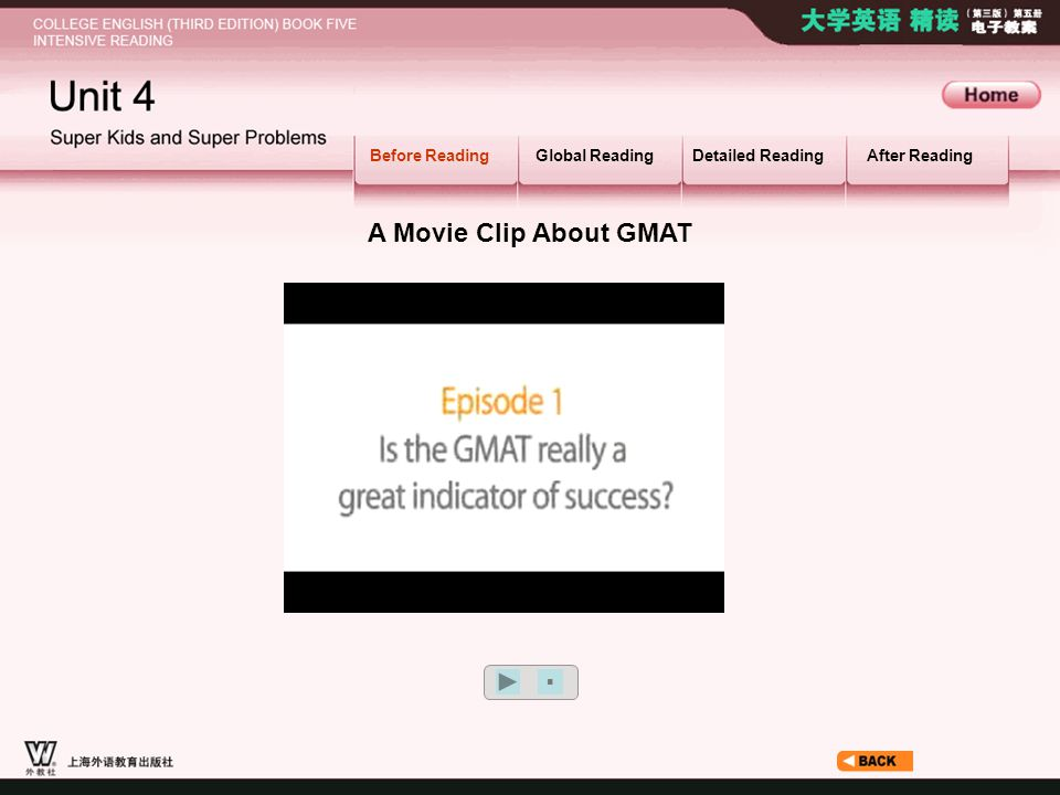 Before Reading_3_3 A Movie Clip About GMAT Before Reading