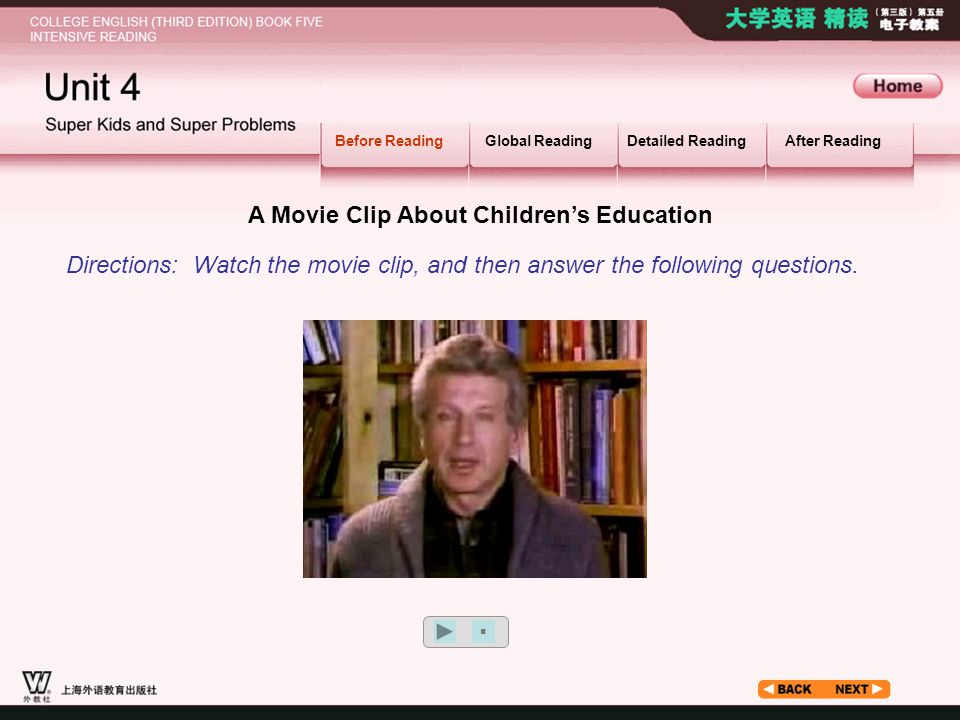 A Movie Clip About Children's Education