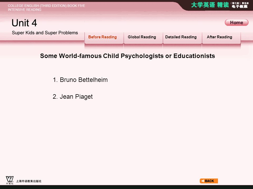 Some World-famous Child Psychologists or Educationists