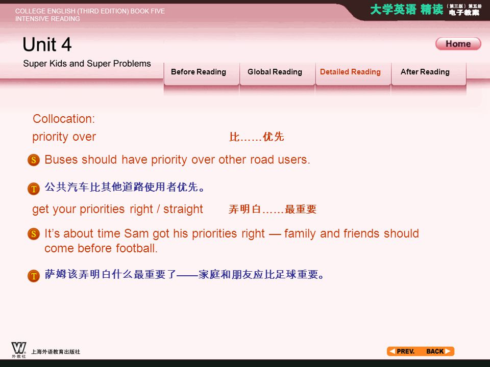 Article_ W_ priority3 Collocation: priority over 比……优先