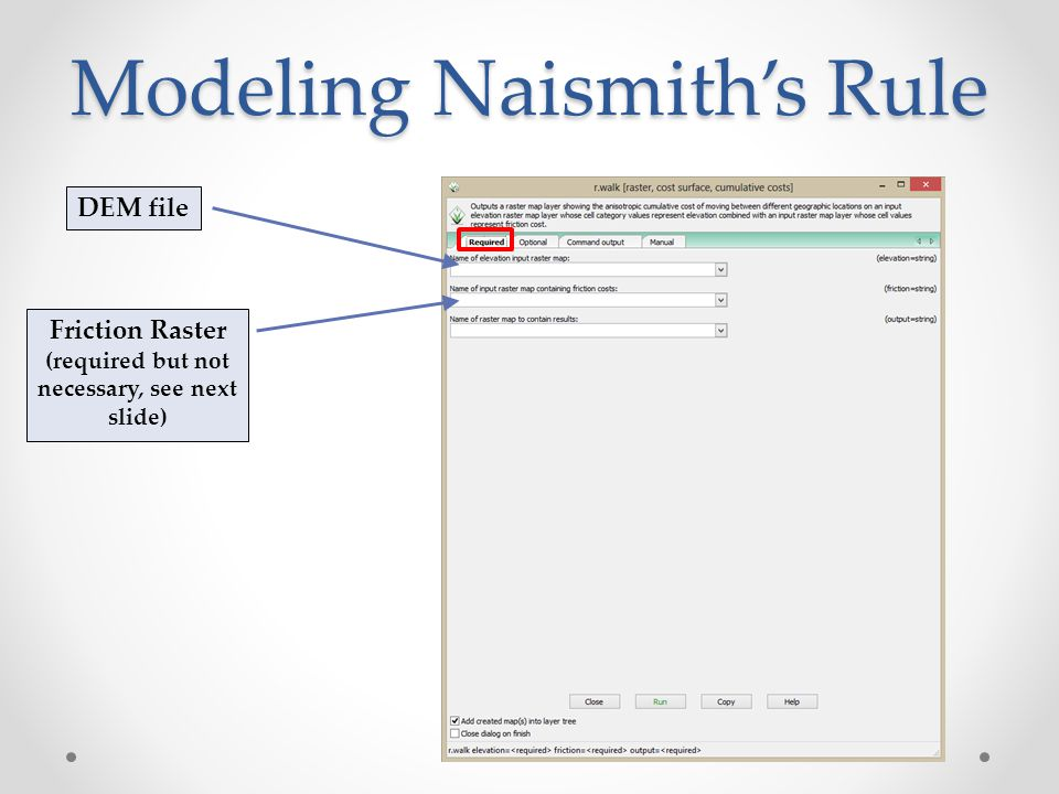 Modeling Naismith's Rule