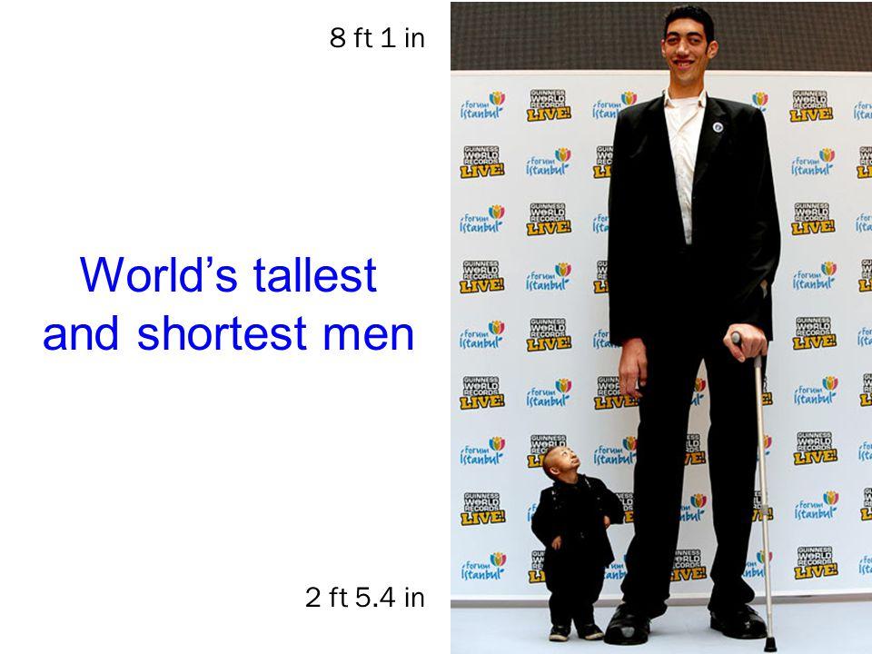 World's tallest and shortest men