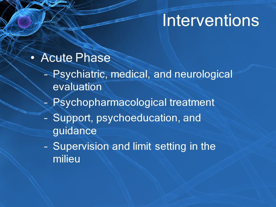Interventions Acute Phase