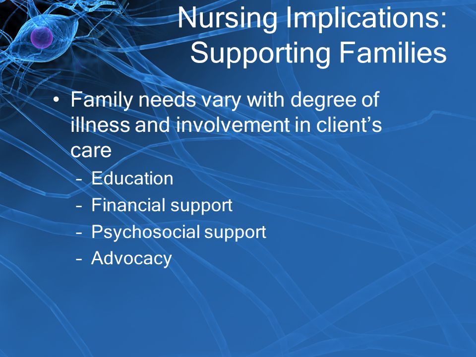 Nursing Implications: Supporting Families