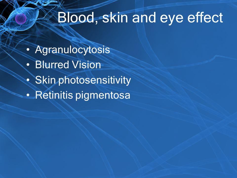 Blood, skin and eye effect