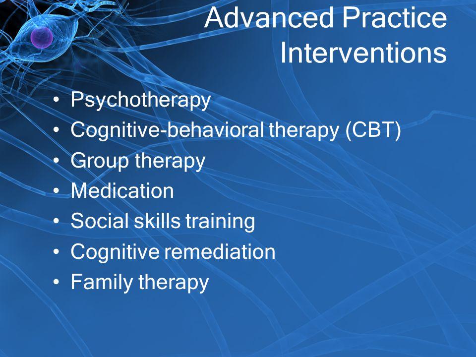 Advanced Practice Interventions