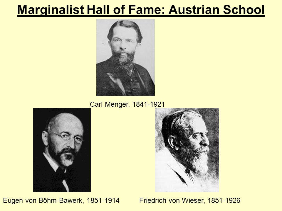 Marginalist Hall of Fame: Austrian School