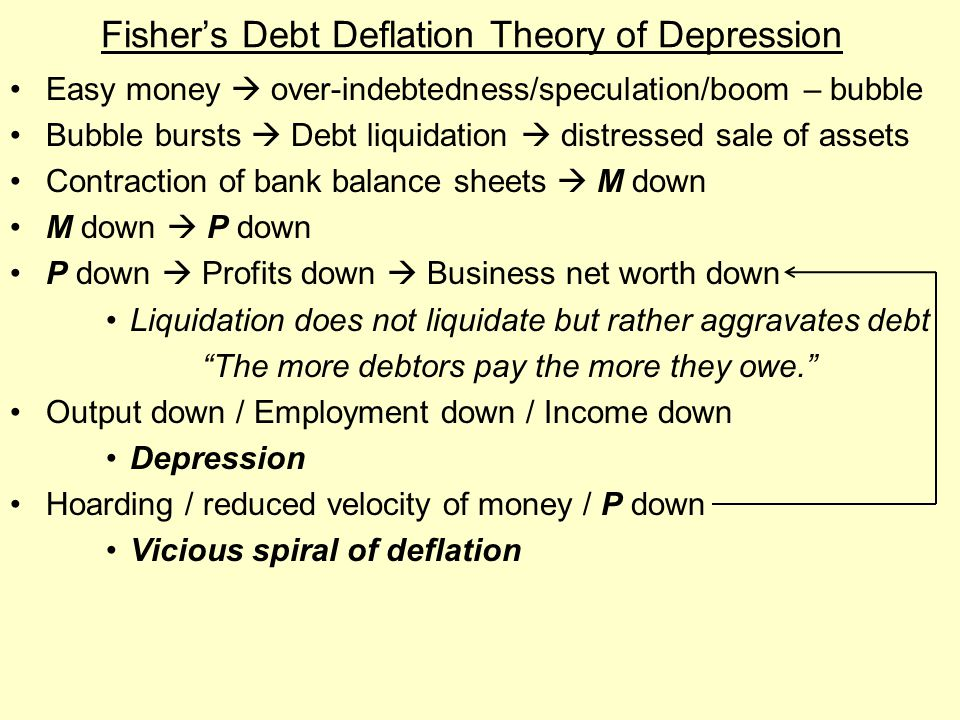 Fisher's Debt Deflation Theory of Depression