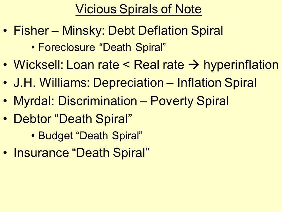 Vicious Spirals of Note
