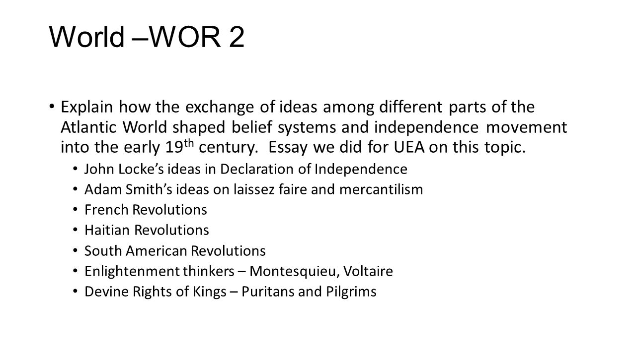 World –WOR 2