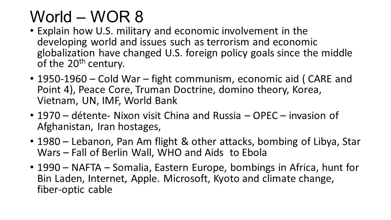 World – WOR 8