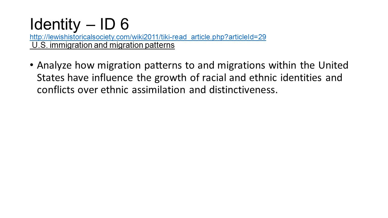 Identity – ID 6 Identity – ID 6 http://lewishistoricalsociety