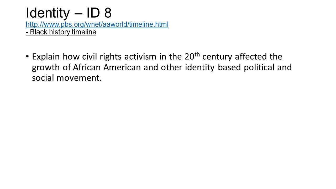 Identity – ID 8 http://www. pbs. org/wnet/aaworld/timeline