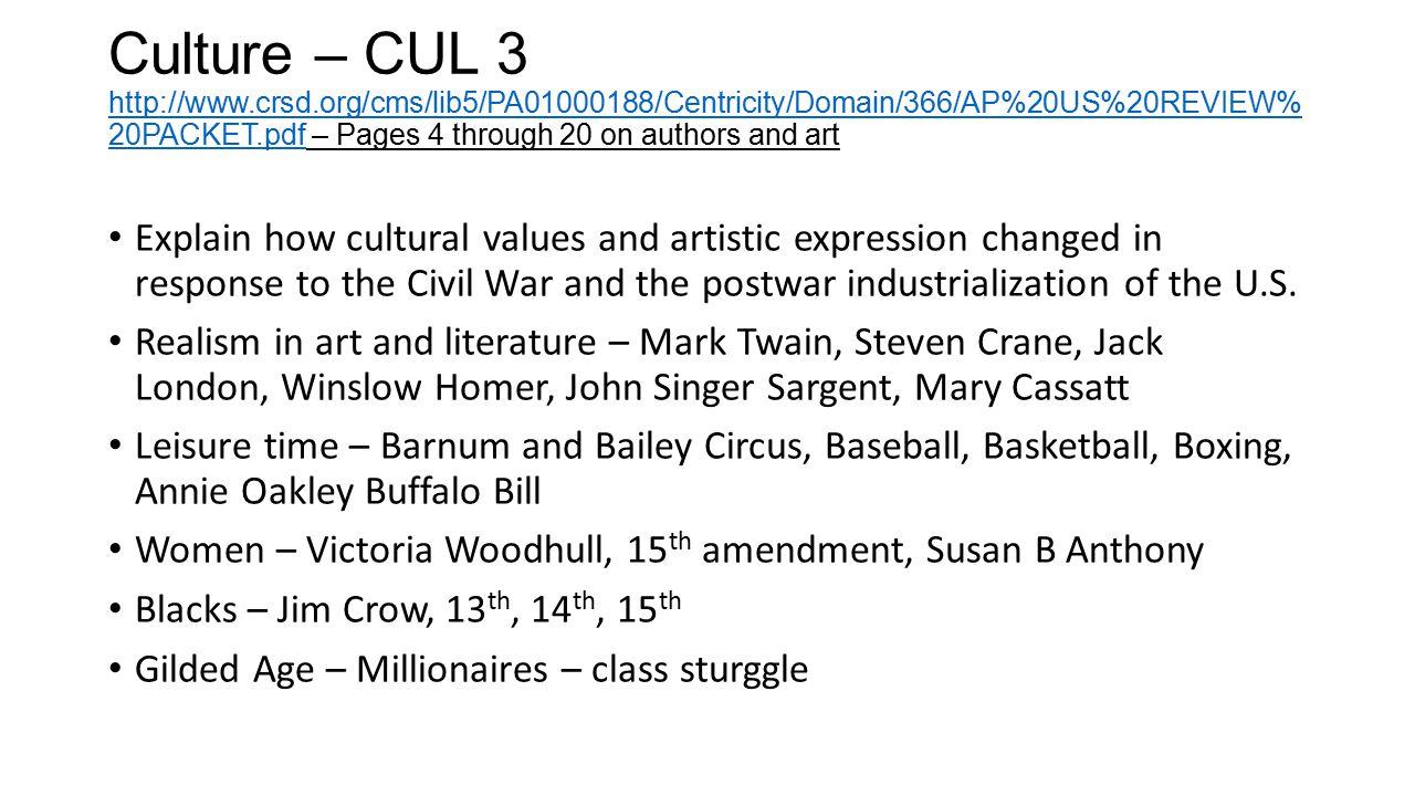 Culture – CUL 3 http://www. crsd
