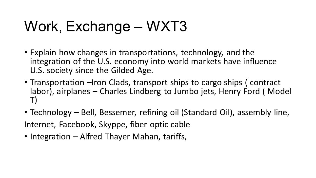 Work, Exchange – WXT3