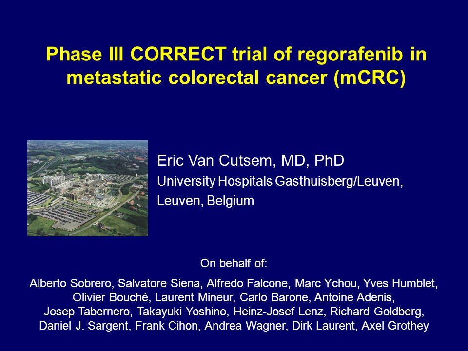 Phase III CORRECT trial of regorafenib in metastatic colorectal cancer (mCRC)