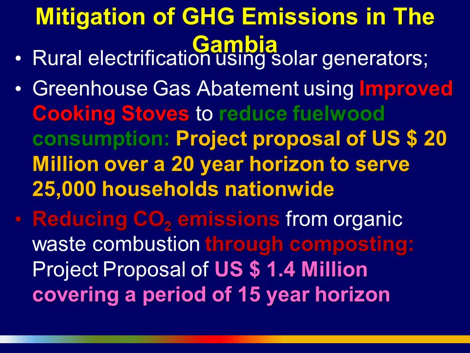 Mitigation of GHG Emissions in The Gambia