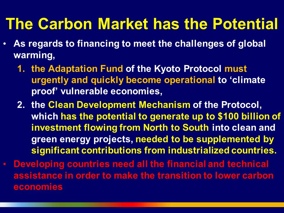 The Carbon Market has the Potential