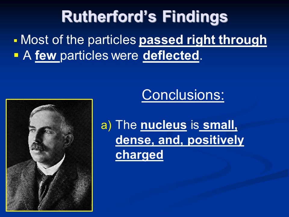 Rutherford's Findings
