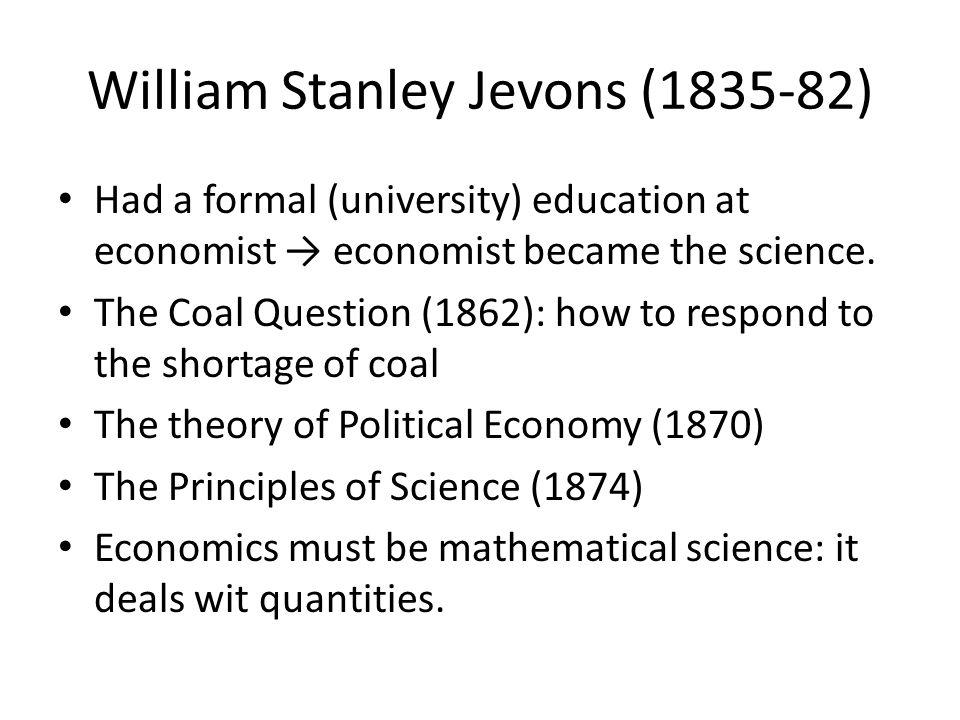 William Stanley Jevons (1835-82)