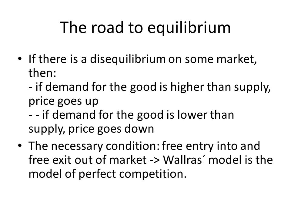 The road to equilibrium