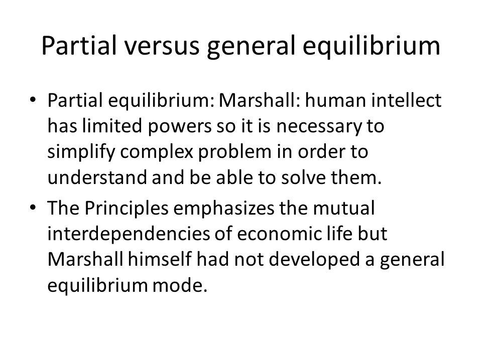 Partial versus general equilibrium
