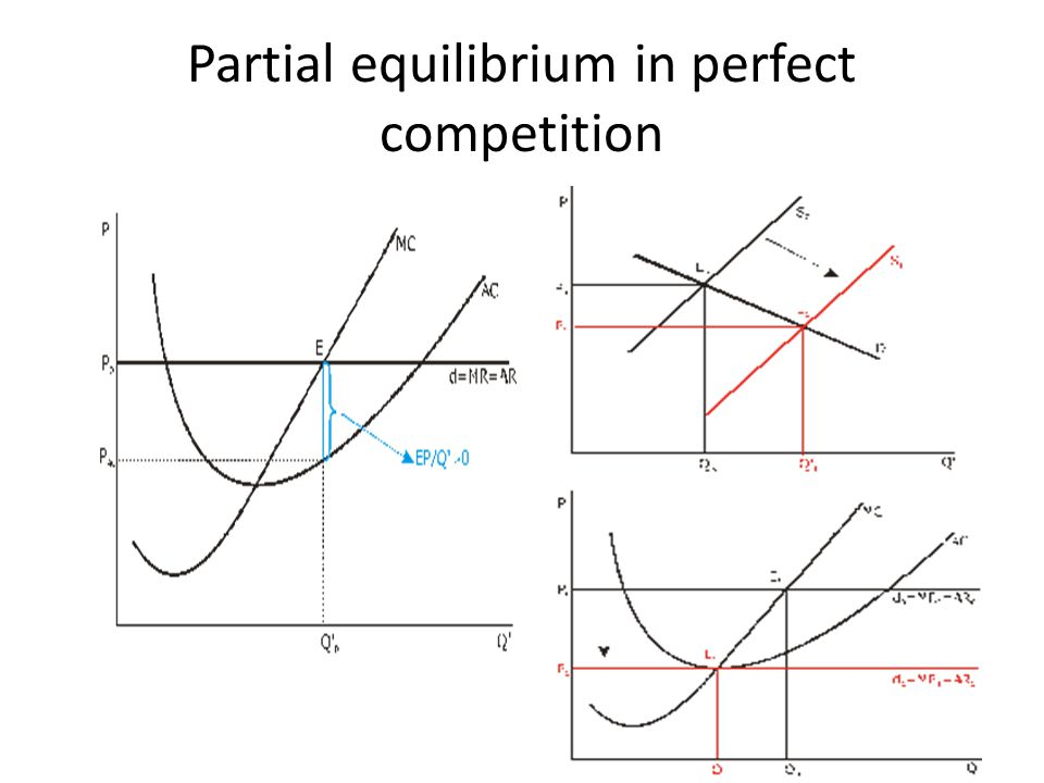 Partial equilibrium in perfect competition