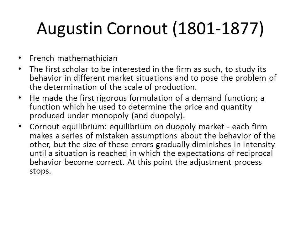 Augustin Cornout (1801-1877) French mathemathician