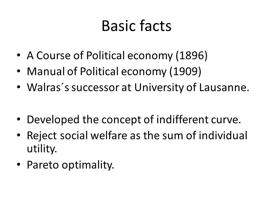 Basic facts A Course of Political economy (1896)