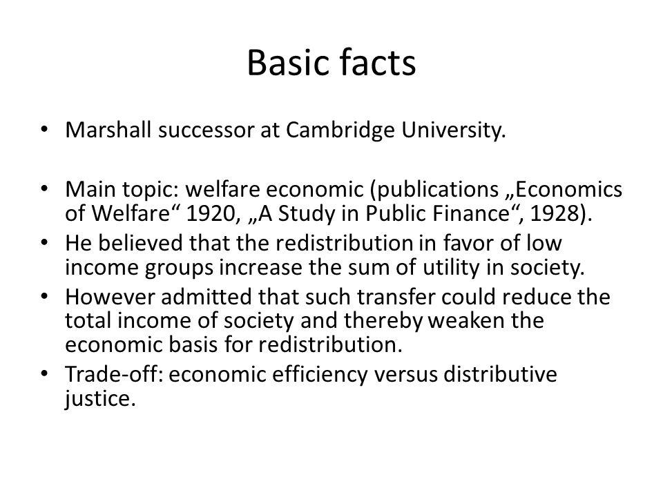 Basic facts Marshall successor at Cambridge University.