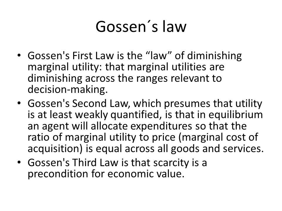 Gossen´s law