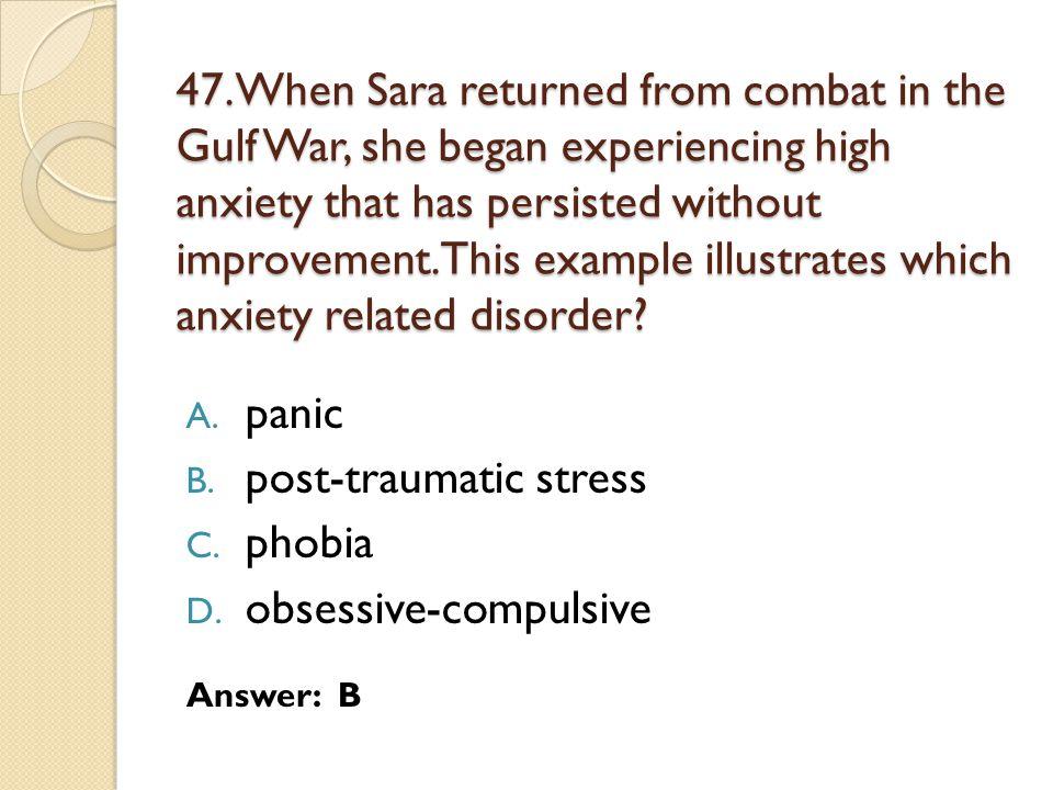 post-traumatic stress phobia obsessive-compulsive