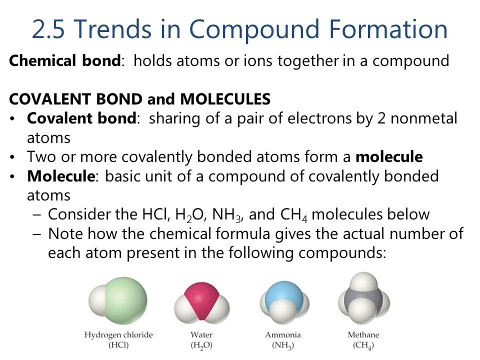 2.5 Trends in Compound Formation