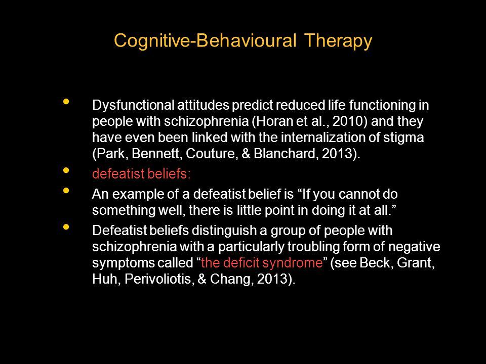 Cognitive-Behavioural Therapy
