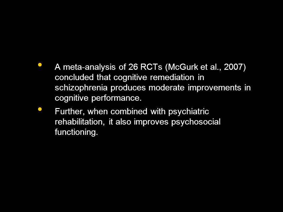 A meta-analysis of 26 RCTs (McGurk et al