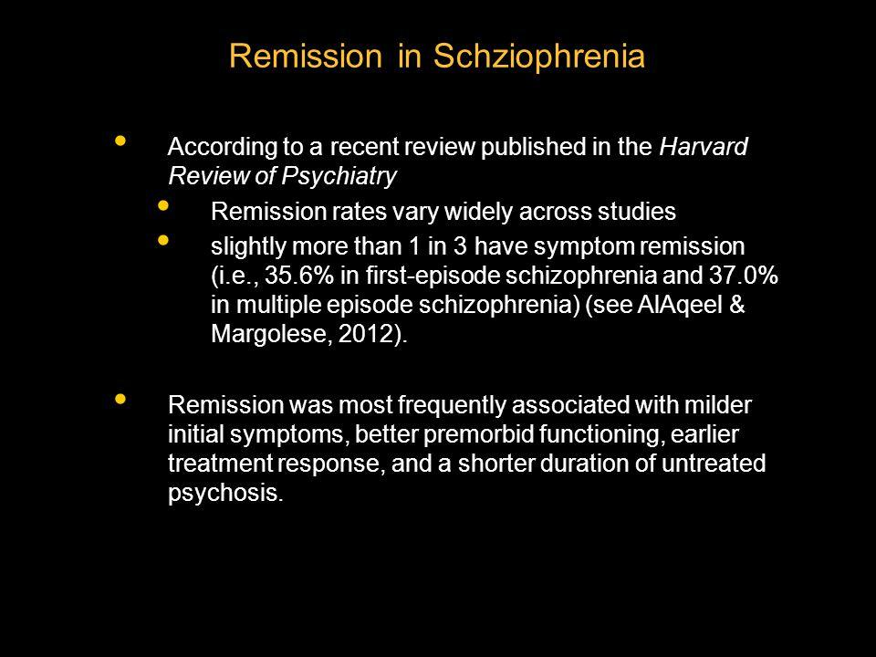 Remission in Schziophrenia
