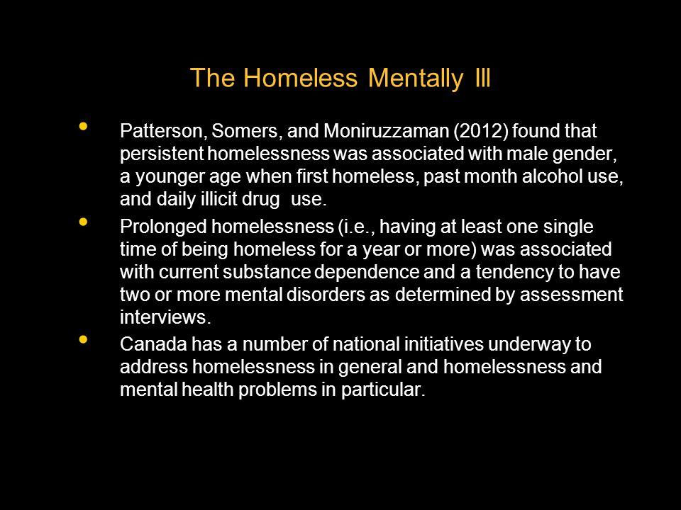 The Homeless Mentally Ill
