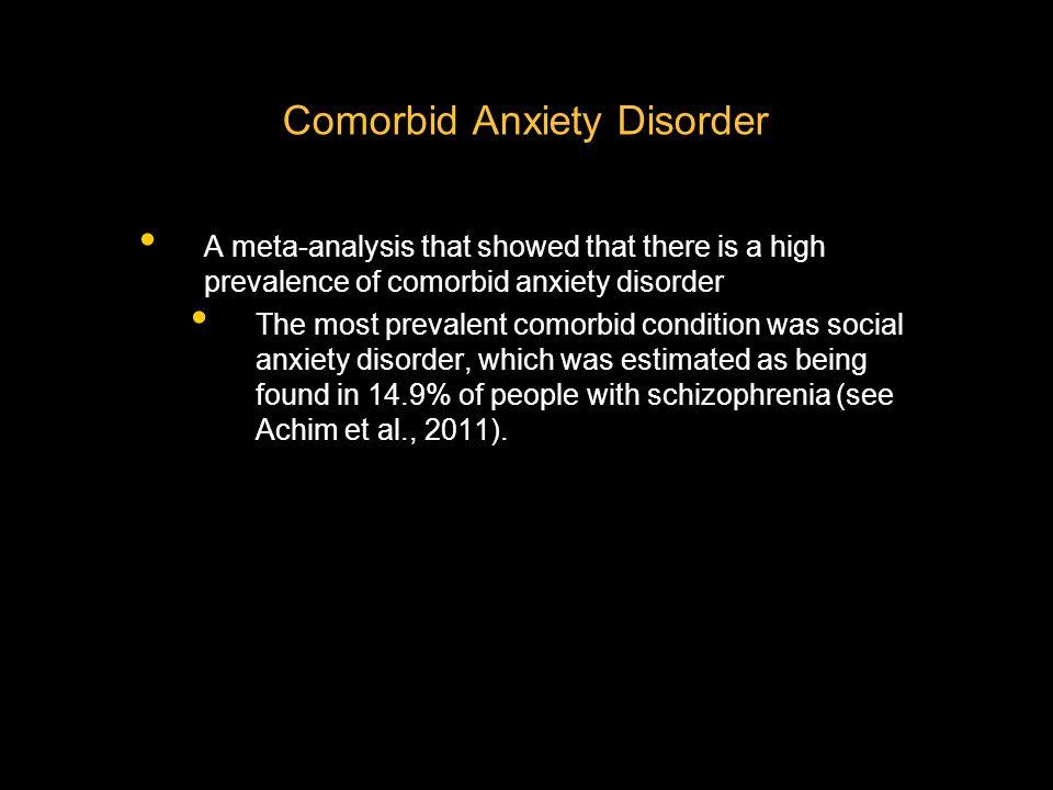 Comorbid Anxiety Disorder