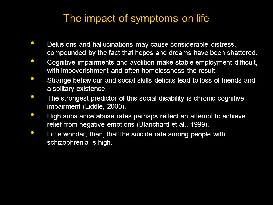The impact of symptoms on life