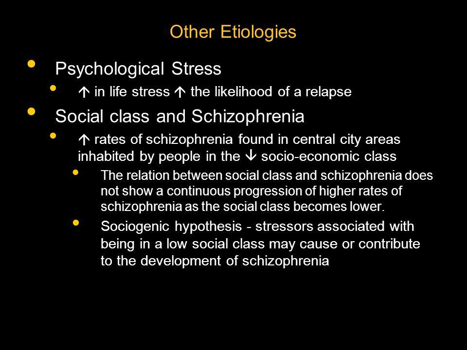 Social class and Schizophrenia