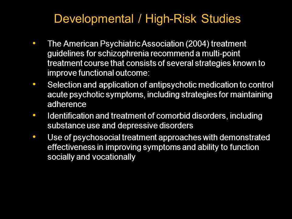 Developmental / High-Risk Studies