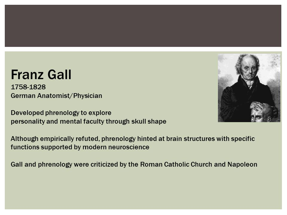 Franz Gall 1758-1828 German Anatomist/Physician