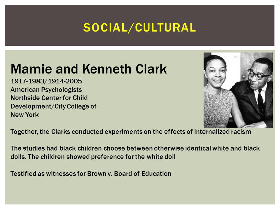 Mamie and Kenneth Clark