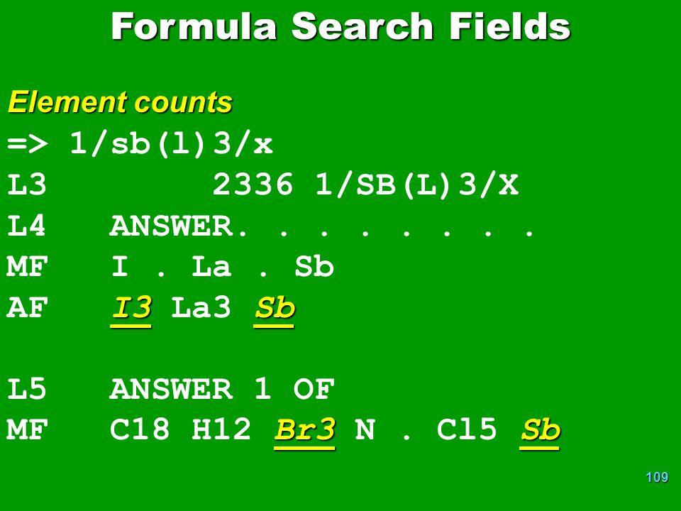 Formula Search Fields => 1/sb(l)3/x L3 2336 1/SB(L)3/X