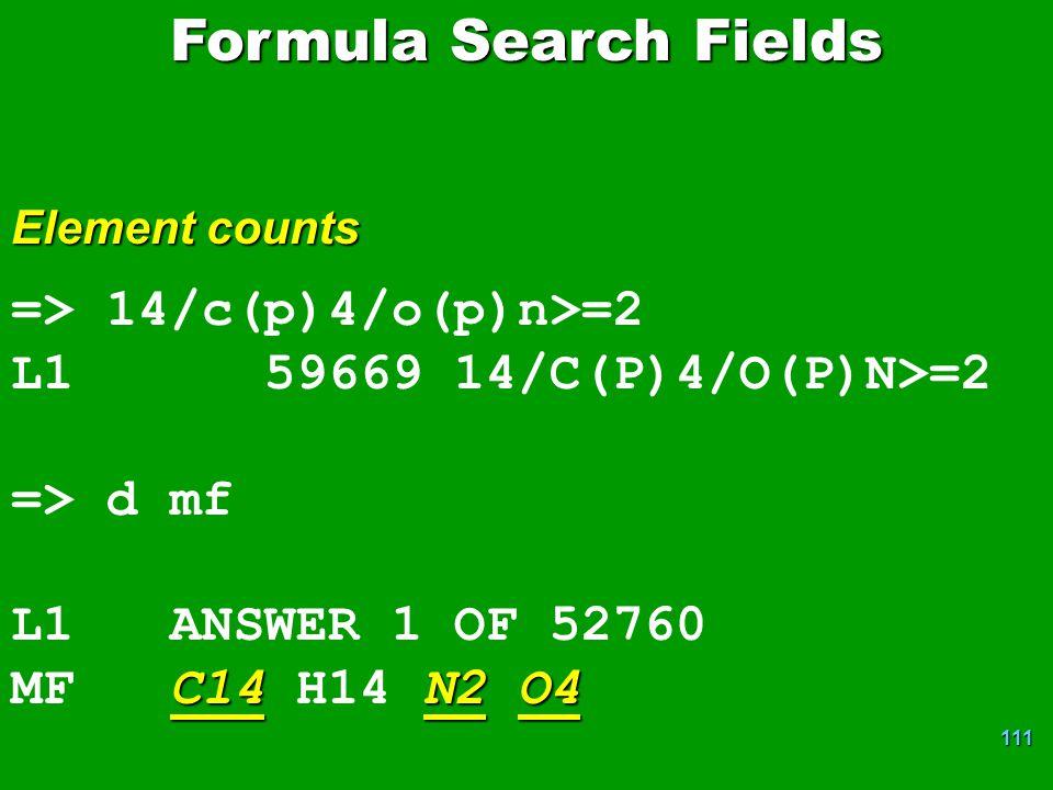 Formula Search Fields => 14/c(p)4/o(p)n>=2